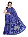 Ishin Printed Art Silk Saree - Blue