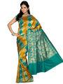 Ishin Cotton Silk Embroidered  Saree - Multicolour-SNGM-1549