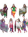 Combo of 7 Khushali Fashion Crepe Printed Dress Material -Kfcmbo102