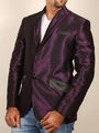 Runako Solid Regular Full sleeves Party Wear Blazer For Men - Purple