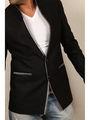 Runako Solid Regular Full sleeves Party Wear Blazer For Men - Black_RK5031