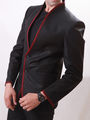 Runako Solid Regular Full sleeves Party Wear Blazer For Men - Black_RK5045