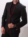 Runako Solid Regular Full sleeves Party Wear Blazer For Men - Black_RK5045