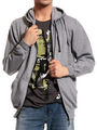Good Karma Cotton Blend Full Sleeves Casual Sweatshirt For Men - Grey_SKH33013