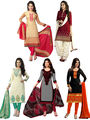 Combo of 5 Thankar Printed Designer Dress material