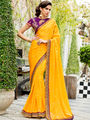 Nanda Silk Mills Embroidered Yellow  Saree_VR-2210
